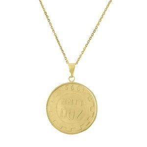 Jewelry - ITALIAN SOLID GOLD COIN NECKLACE